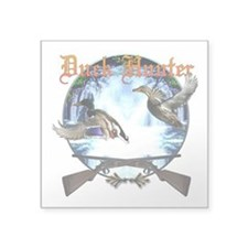 """duckhunter-1.png Square Sticker 3"""" x 3"""""""