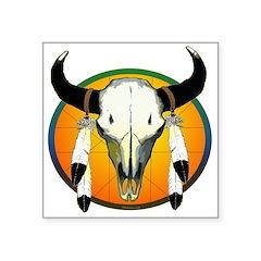 buffalo skull Square Sticker 3