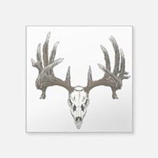 "whitetail skull Square Sticker 3"" x 3"""