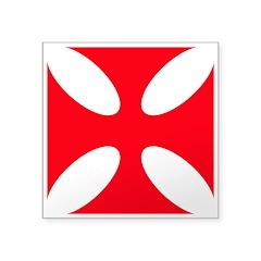 Templar Cross Square Sticker 3