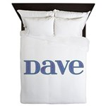 Dave Blue Glass Queen Duvet