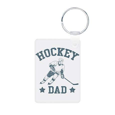 Hockey Dad Aluminum Photo Keychain