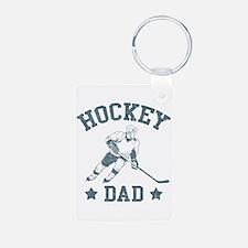 Hockey Dad Keychains