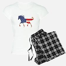 American Flag Horse Pajamas