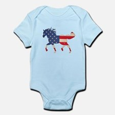 American Flag Horse Infant Bodysuit
