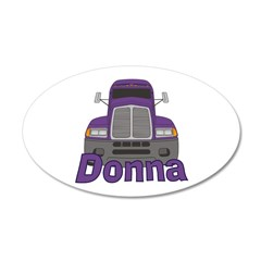 Trucker Donna Wall Decal