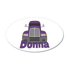 Trucker Donna Wall Decal