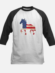American Flag Friesian Horse Tee