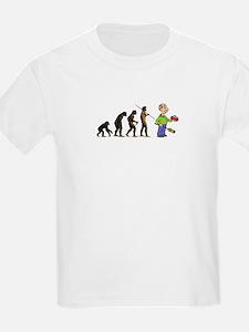 Evolution of Curling Kids T-Shirt