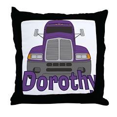 Trucker Dorothy Throw Pillow