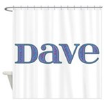 Dave Blue Glass Shower Curtain