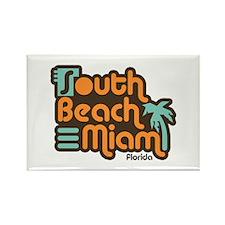 South Beach Miami Florida Rectangle Magnet