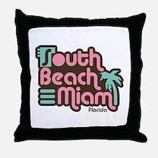 South Beach Miami Florida Throw Pillow