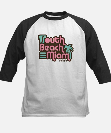 South Beach Miami Florida Kids Baseball Jersey