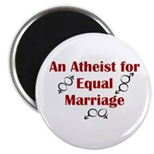 "Atheist for Equal Marriage 2.25"" Magnet (10 pack)"