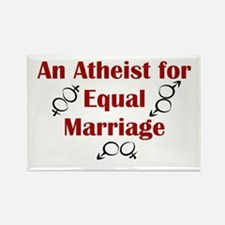 Atheist for Equal Marriage Rectangle Magnet
