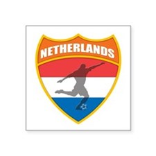 """Netherlands World Cup Soccer Square Sticker 3"""" x 3"""