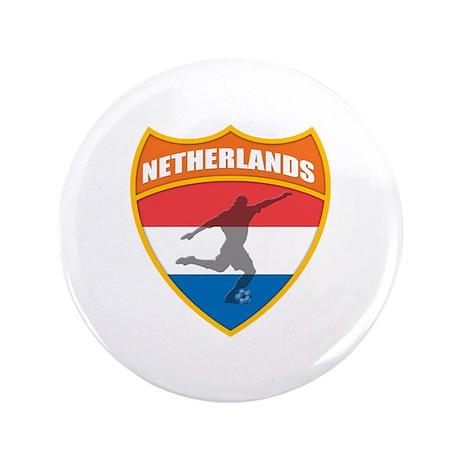 "Netherlands World Cup Soccer 3.5"" Button"