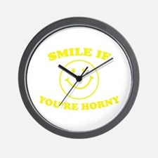 Smile If You're Horny Wall Clock