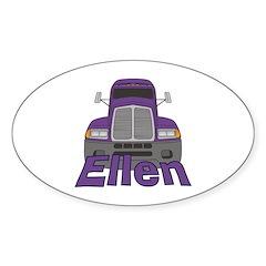 Trucker Ellen Sticker (Oval)