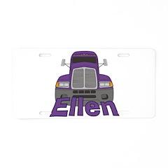 Trucker Ellen Aluminum License Plate