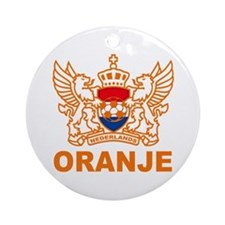 Netherlands World Cup Soccer Ornament (Round)