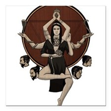 "Kali Square Car Magnet 3"" x 3"""