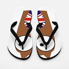 London Union Jack Owl Flip Flops
