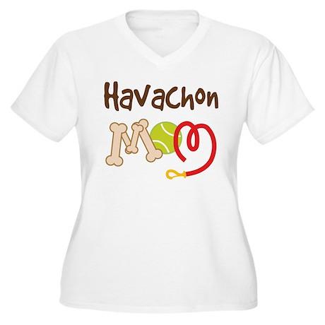 Havachon Dog Mom Women's Plus Size V-Neck T-Shirt