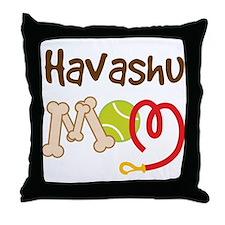 Havashu Dog Mom Throw Pillow