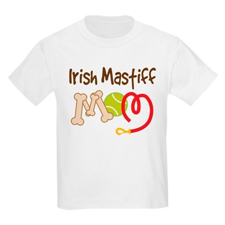 Irish Mastiff Dog Mom Kids Light T-Shirt
