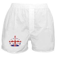 Union Jack Keep calm crown Boxer Shorts