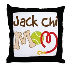 Jack Chi Dog Mom Throw Pillow