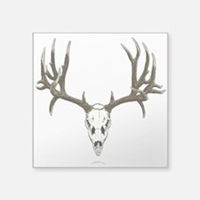 "Deer skull Square Sticker 3"" x 3"""