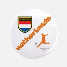 "Netherlands World Cup Soccer 3.5"" Button"
