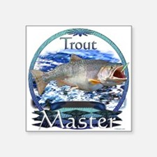 "trout master Square Sticker 3"" x 3"""