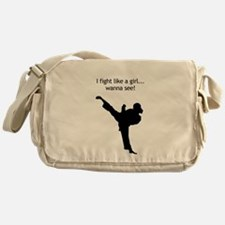 fight like a girl.tif Messenger Bag