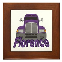 Trucker Florence Framed Tile