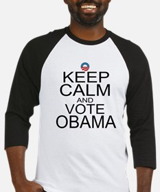 Keep Calm and Vote Obama Baseball Jersey