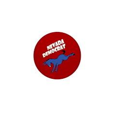 Nevada Democrat Small Donkey Button