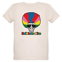 Rainbow Afro Organic Kids T-Shirt