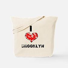 Grunge I Heart Brooklyn Tote Bag