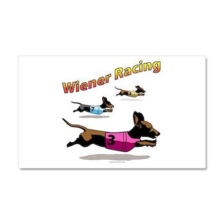 Wiener Racing Car Magnet 20 x 12
