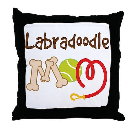 Labradoodle Dog Mom Throw Pillow