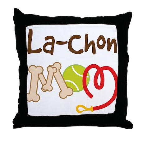 La-Chon Dog Mom Throw Pillow