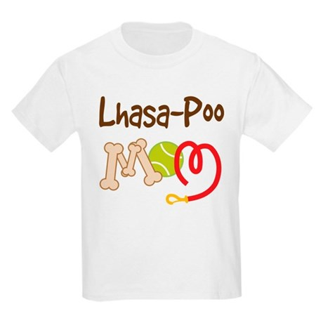Lhasa-Poo Dog Mom Kids Light T-Shirt