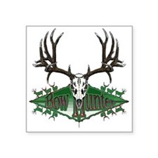 "mule deer skull Square Sticker 3"" x 3"""