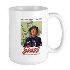 WWII Coast Guard Women Recruiting Poster Mug