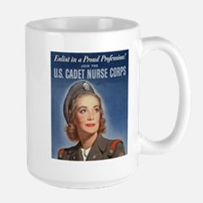 WWII US Army Nurse Recruiting Poster Mug