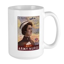 WWII US Army Nurse Recruiting Poster Mug